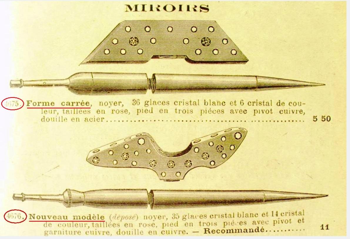 1889 manufacture fran aise d armes le miroir alouettes. Black Bedroom Furniture Sets. Home Design Ideas