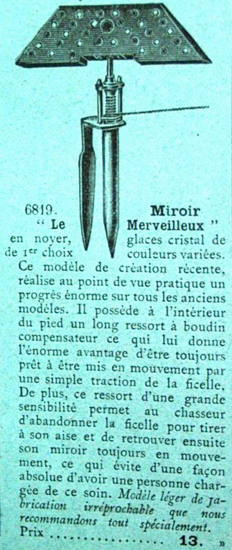1901 manufacture francaise le miroir alouettes for Pierre mabille le miroir du merveilleux