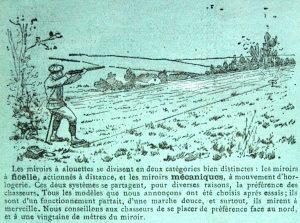 3 Scène de chasse avec la PEDALE 300x223 - 1912  Gravure originale