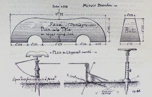 Le Miroir Compemsateur le Siège et la pédale de 1920 300x191 - 1920 MANUFRANCE